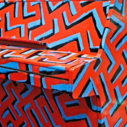 Geometric painted decoration detail